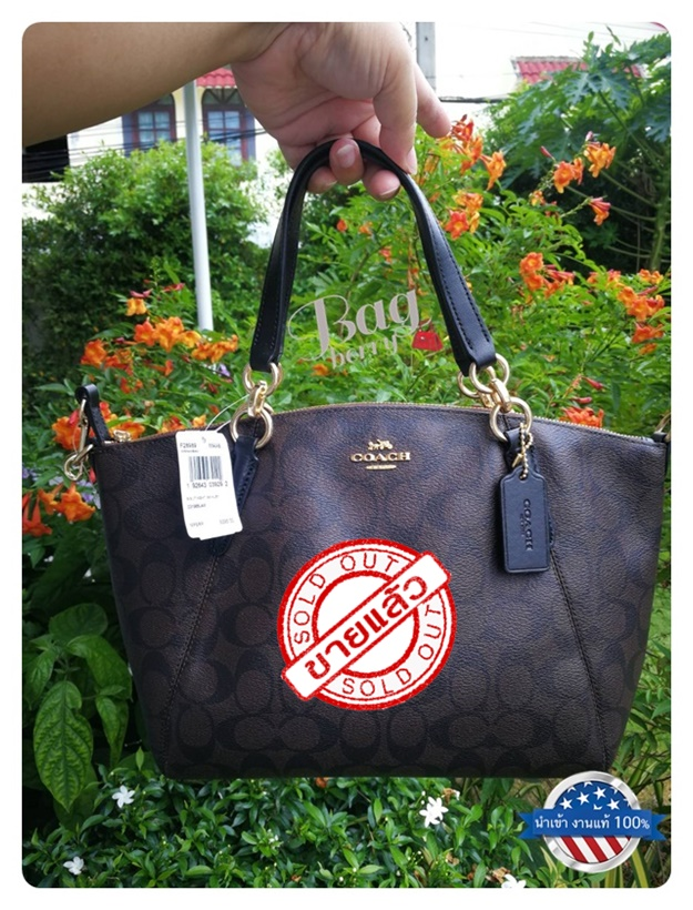 e2a42f015d06 กระเป๋า Coach รุ่น F28989 SMALL KELSEY SATCHEL IN SIGNATURE CANVAS
